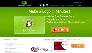 LogoGarden homepage