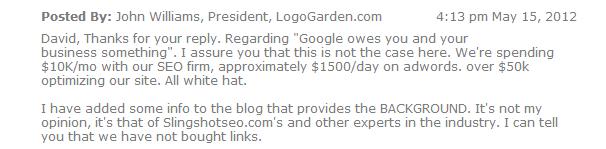 LogoGarden Marketing Expenses