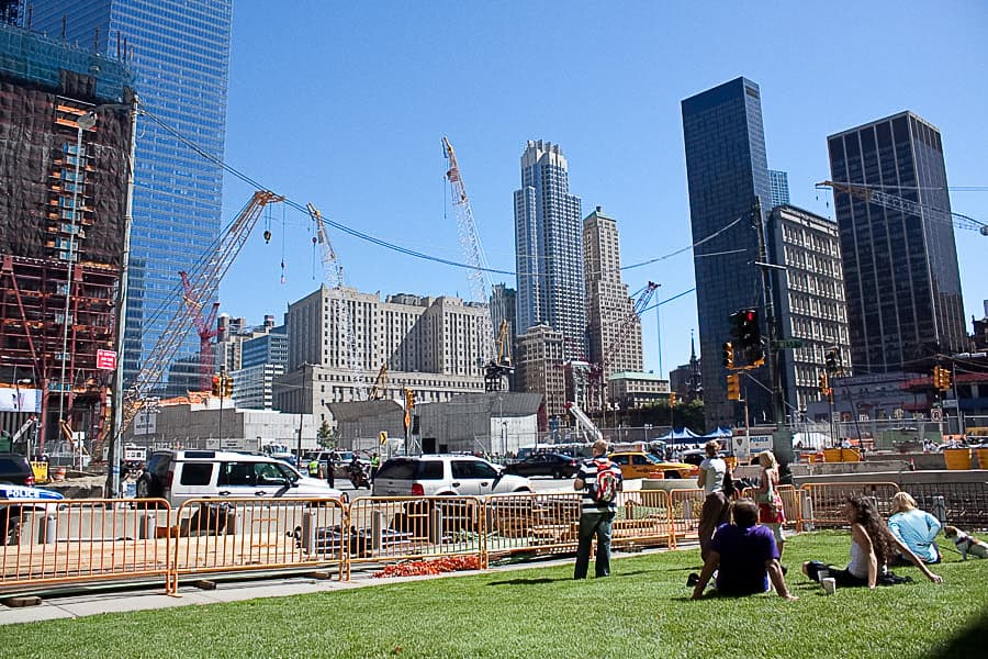 September 11, 2010 events at ground zero and the City Hall