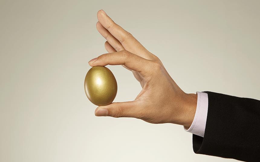 Golden egg from golden goose